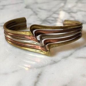 🔥 Mixed Metal Bangle Bracelet